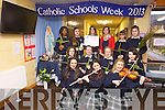 CELEBRATING: Celebrating Catholic Schools Week from January 27th to February 3rd were Transition Year students form Presentation Secondary school, Tralee.  .From front l-r were: Sinead O'Sullivan, Aoife Brosnan, Shelley Ní Eidhin. Middle row l-r were: Kaithlin Corcoran, Claire Horgan, Patriz Brosnan, Geena Godley. Back l-r were: Tomi Odugbesan, Laura McElligott, Rachel O'Mahony, Roisin Moore (Deputy Principal), Jade Clingain and Nora Kearney..