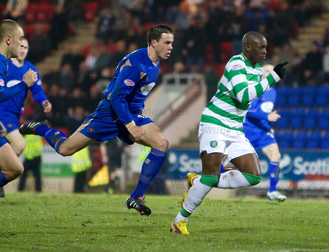 Graham Gartland sent off for a trip on Marc Antoine Fortune