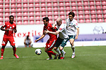Danny Latza (FSV Mainz 05) im Zweikampf mit Davy Klaassen (SV Werder Bremen) und Yuya Osako (SV Werder Bremen), <br /> <br /> Sport: Fussball: 1. Bundesliga:: nphgm001:  Saison 19/20: 33. Spieltag: 1. FSV Mainz 05 vs SV Werder Bremen 20.06.2020<br /> <br /> <br /> Foto: Neis/Eibner/Pool/via gumzmedia/nordphoto<br /> <br /> DFB regulations prohibit any use of photographs as image sequences and/or quasi-video.<br /> Editorial Use ONLY<br /> National and International News Agencies OUT<br /> <br />  DFL REGULATIONS PROHIBIT ANY USE OF PHOTOGRAPHS AS IMAGE SEQUENCES AND OR QUASI VIDEO<br /> EDITORIAL USE ONLY<br /> NATIONAL AND INTERNATIONAL NEWS AGENCIES OUT