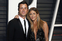 www.acepixs.com<br /> <br /> February 26 2017, LA<br /> <br /> Jennifer Ansiton and Justin Theroux arriving at the Vanity Fair Oscar Party at the Wallis Annenberg Center for the Performing Arts on February 26 2017 in Beverly Hills, Los Angeles<br /> <br /> By Line: Famous/ACE Pictures<br /> <br /> <br /> ACE Pictures Inc<br /> Tel: 6467670430<br /> Email: info@acepixs.com<br /> www.acepixs.com