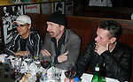 WEST HOLLYWOOD, CA. - February 08: Jimmy Iovine, President of Interscope Records and Musicians The Edge and Larry Mullen Jr. of U2 attend the Universal Music Group Chairman Doug Morris' Grammy Awards Viewing Dinner at The Palm on February 8, 2009 in West Hollywood, California.