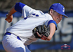 Photo of Spartanburg Methodist College in a game against Walters State Community College on Tuesday, March 19, 2013, at Mooneyham Field in Spartanburg, South Carolina. (Tom Priddy/Four Seam Images)