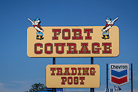 Fort Courage Trading Post, Houck Arizona, along Route 66, was instpired by the 1960 TV show F-Troop.