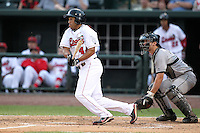 Great Lakes Loons Brian Cavazos-Galvez (44) during a game vs. the Dayton Dragons at Dow Diamond in Midland, Michigan August 19, 2010.   Great Lakes defeated Dayton 1-0.  Photo By Mike Janes/Four Seam Images