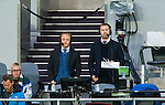 Stockholm 2014-09-28 Fotboll Superettan Hammarby IF - IK Sirius :  <br /> TV4 Sports expert Anders Andersson och kommentator Daniel Kristiansson p&aring; pressl&auml;ktaren under matchen mellan Hammarby och Sirius <br /> (Foto: Kenta J&ouml;nsson) Nyckelord:  Superettan Tele2 Arena Hammarby HIF Bajen Sirius IKS TV