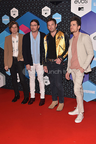 Kings of Leon<br /> 2016 MTV EMAs in Ahoy Arena, Rotterdam, The Netherlands on November 06, 2016.<br /> CAP/PL<br /> &copy;Phil Loftus/Capital Pictures /MediaPunch ***NORTH AND SOUTH AMERICAS ONLY***