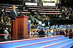Senator Norm Coleman of Minnesota speaks on day two of the Republican National Convention at the XCel Center in Saint Paul, Minnesota September 2, 2008.