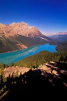 Scenic view of Peyto Lake, Banff National Park, Alberta, Canada.