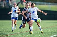 Allston, MA - Sunday July 17, 2016: Leah Galton, Louise Schillgard during a regular season National Women's Soccer League (NWSL) match between the Boston Breakers and Sky Blue FC at Jordan Field.
