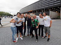 Thursday 08 August 2013<br /> Pictured: Swansea supporters outside the Swedbank Stadium.<br /> Re: Malmo FF v Swansea City FC, UEFA Europa League 3rd Qualifying Round, Second Leg, at the Swedbank Stadium, Malmo, Sweden.