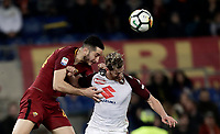 Calcio, Serie A: AS Roma - Torino Roma, stadio Olimpico, 9 marzo, 2018.<br /> Roma's Kostas Manolas (l) in action with Torino's Cristian Ansaldi (r) during the Italian Serie A football match between AS Roma and Torino at Rome's Olympic stadium, 9 marzo, 2018.<br /> UPDATE IMAGES PRESS/Isabella Bonotto