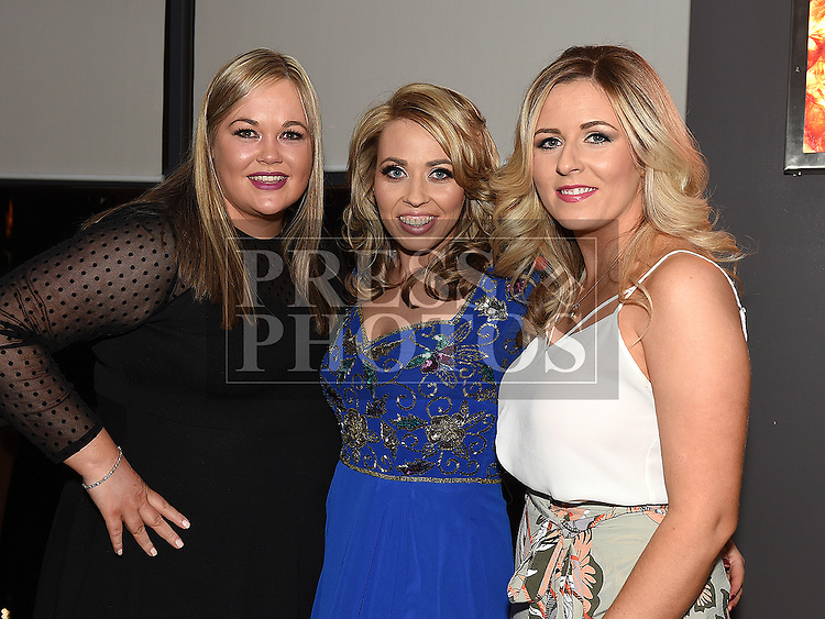 Lorraine Smith celebrating her 30th birthday in Brú with friends Celine Harrison and Claire Campbell. Photo:Colin Bell/pressphotos.ie