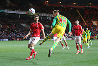 Conor Townsend of West Bromwich Albion header goes wide during Charlton Athletic vs West Bromwich Albion, Sky Bet EFL Championship Football at The Valley on 11th January 2020