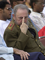 Fidel Castro pictured on January 12, 2000. Credit: Jorge Rey/MediaPunch