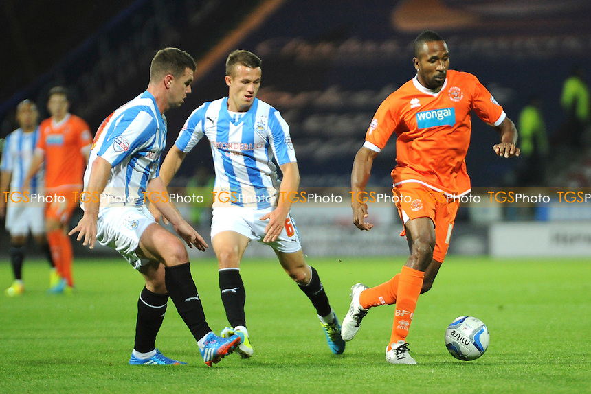 Ricardo Fuller of Blackpool controls the ball - Huddersfield Town vs Blackpool - Sky Bet Championship Football at the John Smiths Stadium, Huddersfield, West Yorkshire - 27/09/13 - MANDATORY CREDIT: Greig Bertram/TGSPHOTO - Self billing applies where appropriate - 0845 094 6026 - contact@tgsphoto.co.uk - NO UNPAID USE