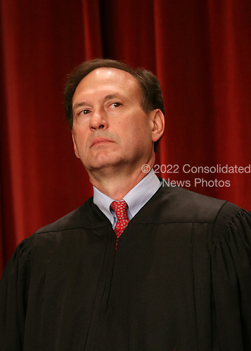 Washington, DC - September 29, 2009 -- Associate Justice of the United States Supreme Court Samuel A. Alito, Jr. poses for a photo during a photo-op at the U.S. Supreme Court in Washington, D.C. on Tuesday, September 29, 2009..Credit: Gary Fabiano / Pool via CNP