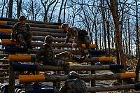 WEST POINT, EUA, 10/04/2019 - COMPETIÇAO-MILITAR - Soldados da equipe da Grã Bretanha durante preparação para o Sandhurst West Point 2019 na U.S Military Academy na cidade de West Point nos Estados Unidos nesta quarta-feira, 10. (Foto: Vanessa Carvalho/Brazil Photo Press/Folhapress)