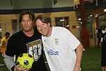 Costas Mandylor & Donal Logue (Life) at the Celebrity soccer game to benefit Hollywood United for Haiti at 1st Setanta Cup Soccer Festival on April 11, 2009 at Chelsea Pers, NYC. (Photo  by Sue Cofln/Max Photos)