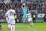 Martin Fraisl (Nr.1, SV Sandhausen) faengt den hohen Ball ab beim Spiel in der 2. Bundesliga, SV Sandhausen - FC St. Pauli.<br /> <br /> Foto © PIX-Sportfotos *** Foto ist honorarpflichtig! *** Auf Anfrage in hoeherer Qualitaet/Aufloesung. Belegexemplar erbeten. Veroeffentlichung ausschliesslich fuer journalistisch-publizistische Zwecke. For editorial use only. For editorial use only. DFL regulations prohibit any use of photographs as image sequences and/or quasi-video.