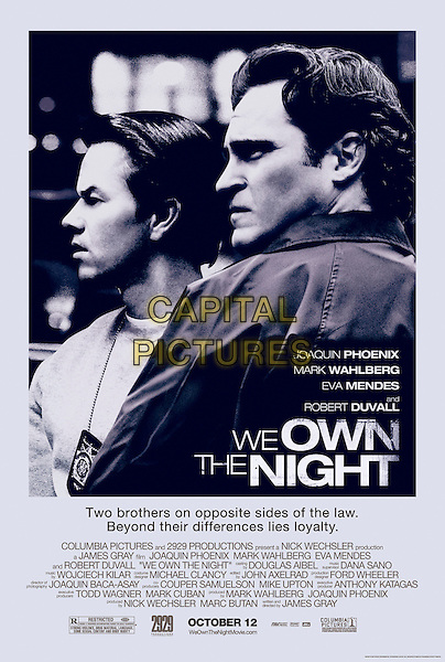 POSTER ART.in We Own the Night .*Filmstill - Editorial Use Only*.CAP/FB.Supplied by Capital Pictures.