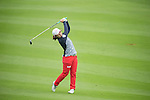 Bo Bea Kim of South Korea plays a second shot at the 18th hole during Round 2 of the World Ladies Championship 2016 on 12 March 2016 at Mission Hills Olazabal Golf Course in Dongguan, China. Photo by Victor Fraile / Power Sport Images