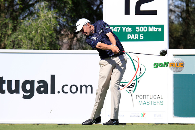 Peter Lawrie (IRL) tees off the 12th tee during Saturday's Round 3 of the Portugal Masters at the Oceanico Victoria Golf Course, Vilamoura, Portugal 13th October 2012 (Photo Eoin Clarke/www.golffile.ie)