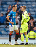 05.05.2019 Rangers v Hibs: Nikola Katic and Florian Kamberi at full time