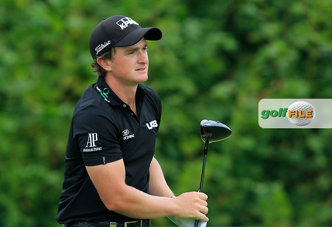 Paul Dunne (IRL) on the 6th tee during Round 4 of the 2016 KLM Open at the Dutch Golf Club at Spijk in The Netherlands on  Sunday 11/09/16.<br />