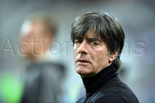 13.11.2015. Stade de France, Paris, France. International football friendly. France versus Germany.  Joachim LOW German coach . The game was parially interupted as the paris terror attacks took place and bombs were heard going off outside the stadium.