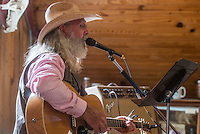 NWA Democrat-Gazette/ANTHONY REYES &bull; @NWATONYR<br /> Ronny Gibbons of Rogers plays for a lunch time crowd Monday, Sept. 7, 2015 at the War Eagle Mill in Rogers. The Mill was celebrating Labor Day with jewelry demonstrations with artist Janet Alexander of Eureka Springs and the live country music.