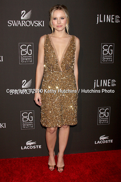 Kristen Bell.arriving at the 2010 Costume Designer's Guild Awards.Beverly Hilton Hotel.Beverly Hills, CA.February 25, 2010.©2010 Kathy Hutchins / Hutchins Photo....