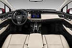 Stock photo of straight dashboard view of a 2018 Honda Clarity Plug-In Hybrid 4 Door Sedan
