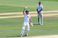 James Foster of Essex celebrates scoring a century, 100 runs during Essex CCC vs Warwickshire CCC, Specsavers County Championship Division 1 Cricket at The Cloudfm County Ground on 20th June 2017