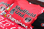 Sheffield United T-shirts on sale during the English League One match at Bramall Lane Stadium, Sheffield. Picture date: April 30th, 2017. Pic credit should read: Jamie Tyerman/Sportimage