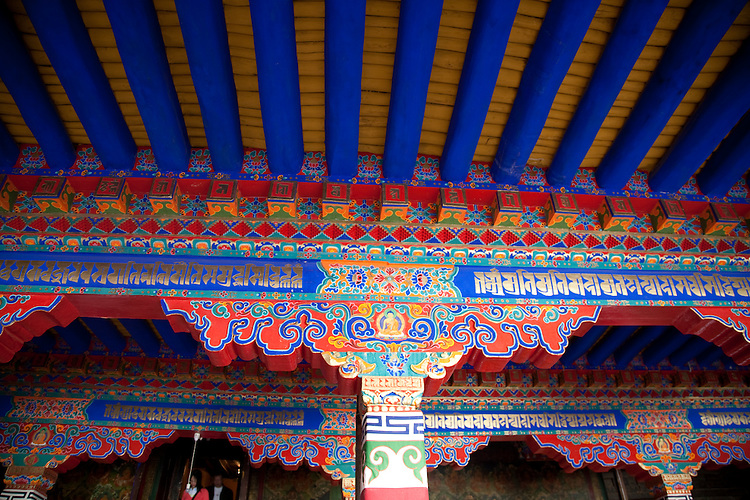 Ceiling of Tibetan temple.