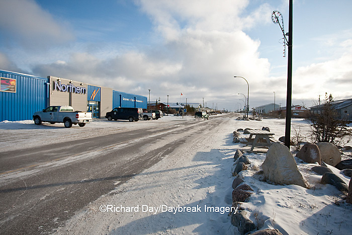 60595-01016 Kelsey Blvd in winter, Churchill MB Canada