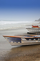 Dory Boats On The Shoreline