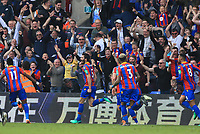 James Tomkins of Crystal Palace celebrates scoring the second goal during Crystal Palace vs Brighton & Hove Albion, Premier League Football at Selhurst Park on 14th April 2018