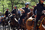 POLICE on HORSEBACK SEND a MESSAGE to ANY WHO WOULD DETER the PEACE DURING the 2008 DEMOCRATIC CONVENTION in DENVER COLORADO (5)