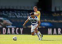 18th July 2020; The Kiyan Prince Foundation Stadium, London, England; English Championship Football, Queen Park Rangers versus Millwall; Dominic Ball of Queens Park Rangers being challenged by Jed Wallace of Millwall