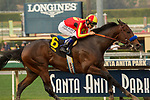 ARCADIA, CA  JANUARY 06: #6 McKinzie, ridden by Mike Smith, in the stretch of the Sham Stakes (Grade lll) on January 6, 2018, at Santa Anita Park in Arcadia, CA.  (Photo by Casey Phillips/ Eclipse Sportswire/ Getty Images)