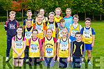 Iveragh AC runners at the County Cross Country championships in Killarney on Sunday front row Lexie O'Donoghue, Marie Claire Daly, Muireann Teahan, Clodagh Dwyer, Donogh O'Sullivan. Back row: Adam quigley, Aideen Dwyer Emmet Daly, Sarah O'Connor, Maeve Daly, Katie O'Connell, Sarah Miller, Killian O'Connor, Aoife Dwyer, Aidan O'Connor and Cian O'Sullivan