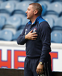 Ally McCoist reminding the players what it is all about