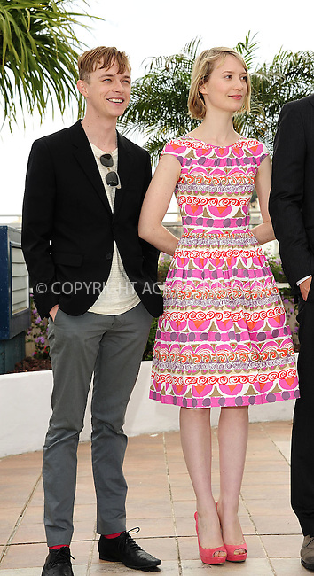 "WWW.ACEPIXS.COM . . . . .  ..... . . . . US SALES ONLY . . . . .....May 19 2012, Cannes....Dane Dehaan and Mia Wasikowska at the photocall for ""Lawless"" at the Cannes Film Festival May 19 2012 in France ....Please byline: FAMOUS-ACE PICTURES... . . . .  ....Ace Pictures, Inc:  ..Tel: (212) 243-8787..e-mail: info@acepixs.com..web: http://www.acepixs.com"