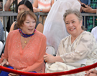 LOS ANGELES, CA. September 20, 2016: Shirley MacLaine &amp; Kathy Bates at the Hollywood Walk of Fame star ceremony honoring actress Kathy Bates.<br /> Picture: Paul Smith / Featureflash