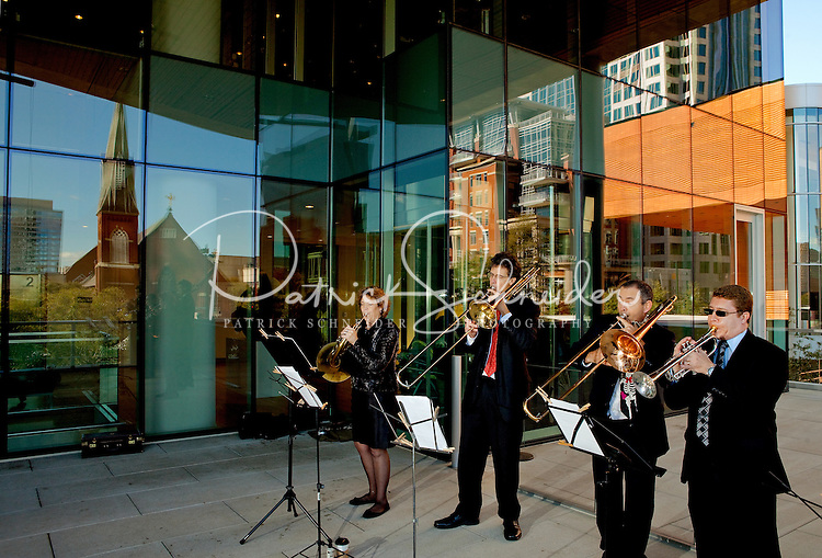 Musicians entertain visitors during the Wells Fargo Community Celebration, held October 29, 2011 in downtown Charlotte NC. The daylong festival took place in the streets, in public atriums and in downtown museums, which offered free admission all day long. Wells Fargo, which this month completed its conversion from Wachovia, picked up the bill.