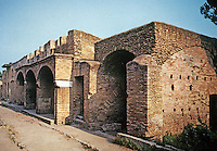 Italy: Ostia--The Wine shop or Thermopolium in the Via Di Diana as it is today. Photo '83.