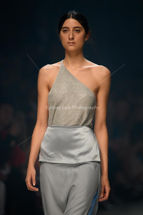7 March 2018, Melbourne - Models showcase designs by Kacey Devlin during the Runway 3 show presented by Harper's Bazaar at the 2018 Virgin Australia Melbourne Fashion Festival in Melbourne, Australia. (Photo Sydney Low / asteriskimages.com)