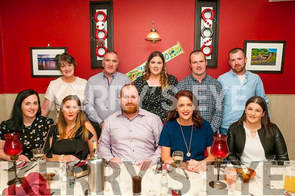 30th Birthday: Liam Foley, Ballylongford, celebrating his 30th birthday with family & friend at Eabha Joan's Restaurant, Listowel on Saturday nigh last.