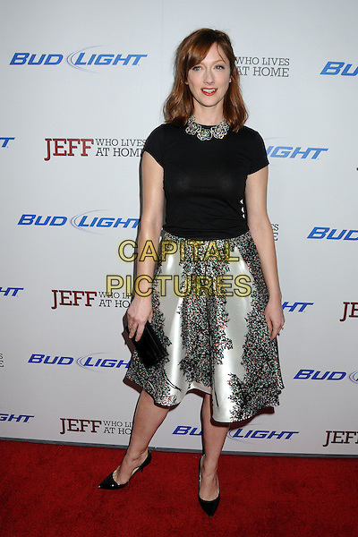 "Judy Greer.""Jeff, Who Lives At Home"" Los Angeles Premiere held at the Directors Guild of America, West Hollywood, California, USA..March 7th, 2012.full length black skirt white black print skirt top.CAP/ADM/BP.©Byron Purvis/AdMedia/Capital Pictures."